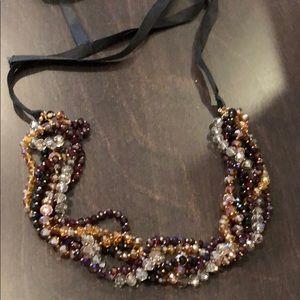 Ann Taylor Loft ribbon tie necklace